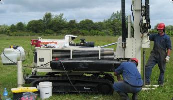 Direct push drilling